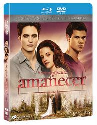 Carátula del Blu-Ray de Amanecer parte I