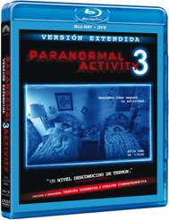 Paranormal Activity 3 carátula del Blu-Ray