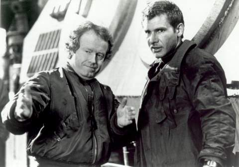 Ridley Scott y Harrison Ford.