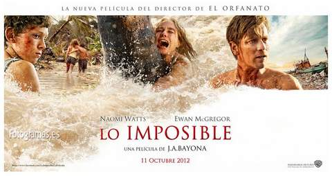 Lo Imposible, banner.
