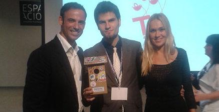 Cineralia en la gala de los Tweets Awards 2012.