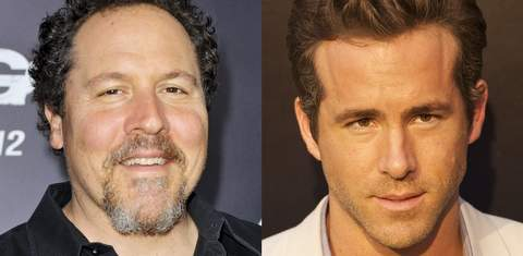 Jon Favreau y Ryan Reynolds.