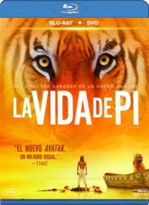 "Carátula Blu-ray de ""La vida de Pi""."