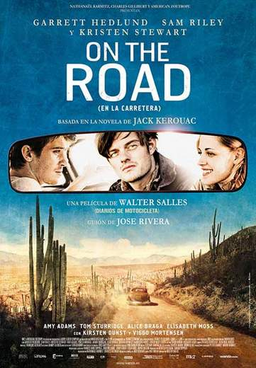"""Póster de """"On the road""""."""
