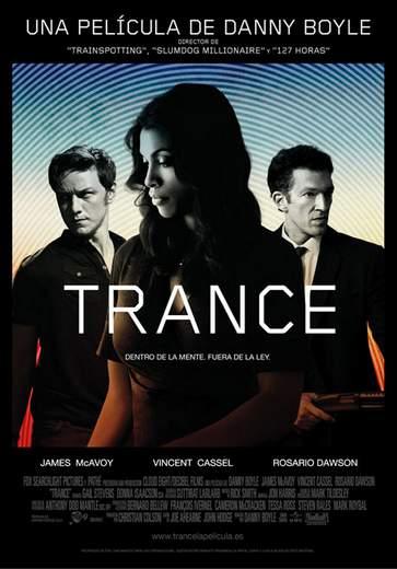 """Póster de """"Trance""""."""
