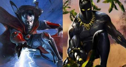 Doctor Strange y Black Panther.