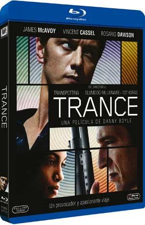 """Carátula Blu-ray """"Trance""""."""