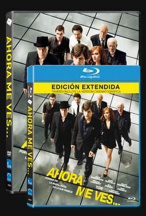 Carátulas Blu-ray y DVD de Ahora me ves