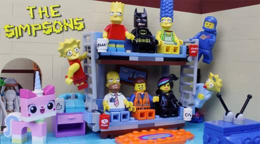 Los Simpsons y La Lego película juntos
