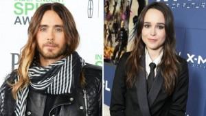 Jared Leto y Ellen Page.
