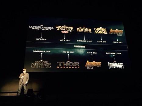 Agenda de Marvel Studios para la Fase 3