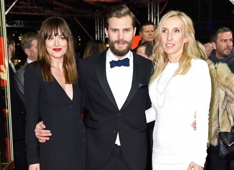 Sam Taylor-Johnson, Dakota Johnson y Jamie Dornan