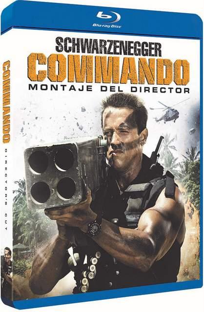 Carátula Blu-ray de Commando, montaje del director