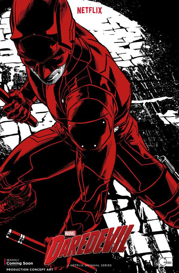 Póster segunda temporada de Daredevil