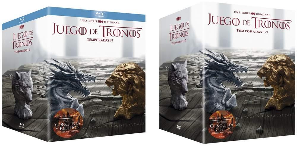 Cofres con las 7 temporadas de Juego de Tronos